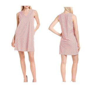 Jude Connally Jacey Summer Stripe Coral Dress
